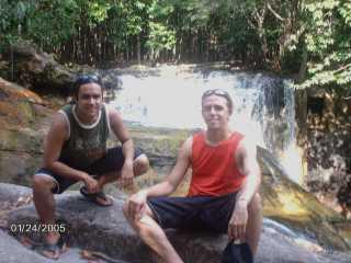 Uma das cachoeiras do Santuário